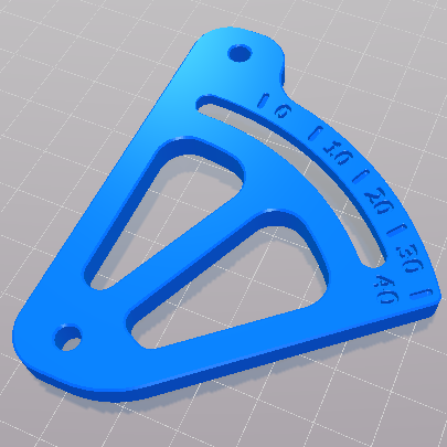 Anycubic Kossel extruder mount