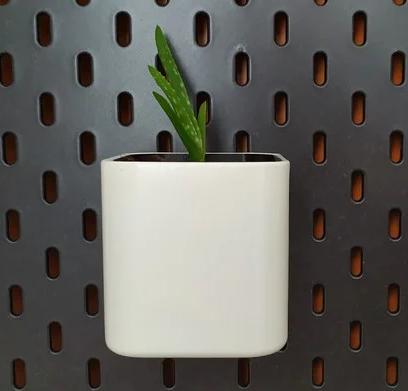 Ikea Skadis flower pot