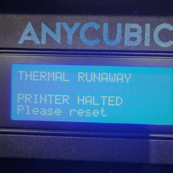 Anycubic Kossel Thermal Runaway